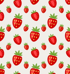Seamless pattern of ripe strawberry vector