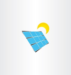 Solar panel sun energy icon vector