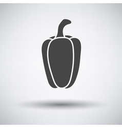 Pepper icon on gray background vector
