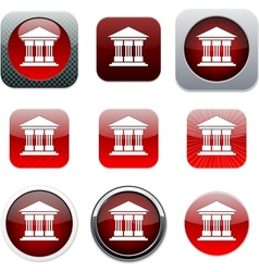 Exchange red app icons vector