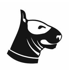Bull terrier dog icon simple style vector