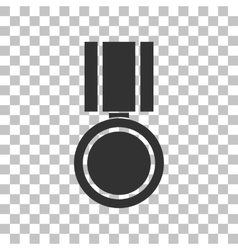 Medal sign  dark gray icon on vector