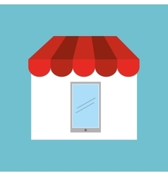 Shopping store icon vector