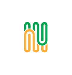 Abstract line business logo vector