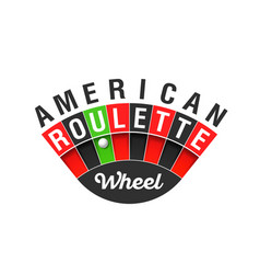 american roulette wheel sign vector image