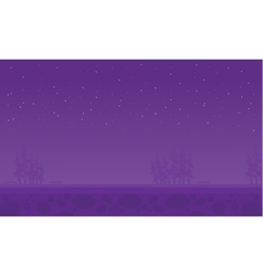 At night spruce scenery of vector