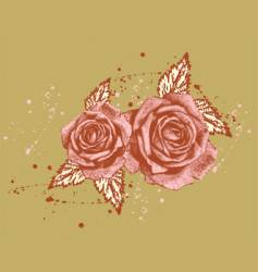 beautiful rose vector image vector image