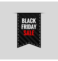 Black friday sale tape banner - isolated vector