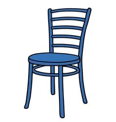 Classic blue chair vector