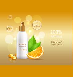 Cream sun protective factor coenzyme energizer vector