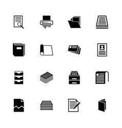 document - flat icons vector image