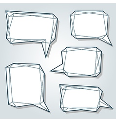 frame set bubble low poly 3d vector image vector image