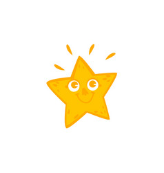funny star character with smiling human face vector image