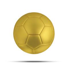 gold soccer ball on white background golden vector image vector image