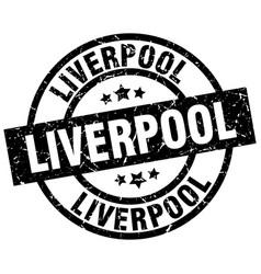 Liverpool black round grunge stamp vector