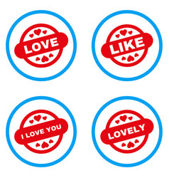 love stamp seal rounded icons vector image vector image