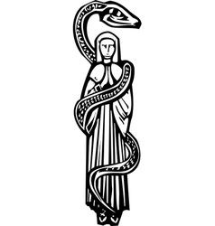 Mary and Serpent vector image