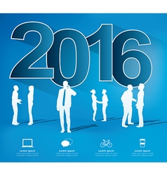 Modern infographic new year project vector