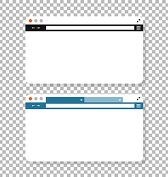 Opened browser window mockup Past your content vector image vector image