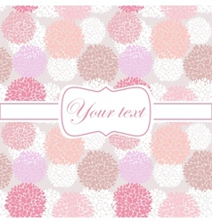 Pink card invitation with peony flowers vector