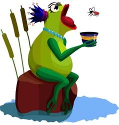 queen frog vector image vector image