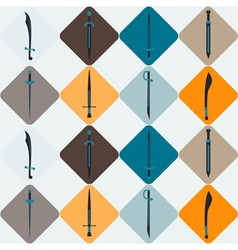 Seamless background with swords vector image vector image