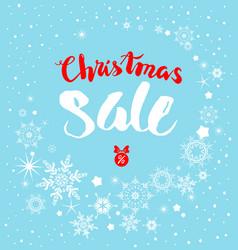 snow christmas sale vector image vector image