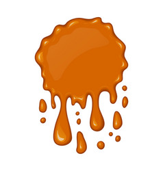 splash of flowing caramel vector image vector image