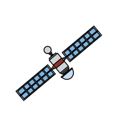Isolated satellite design vector