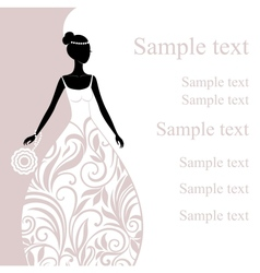 a beautiful young bride vector image