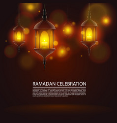 Ramadan celebration art vector