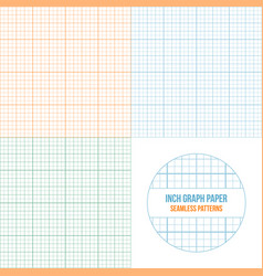 Graph paper seamless patterns set vector