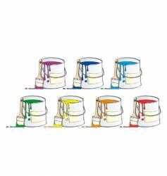 pots of paint vector image
