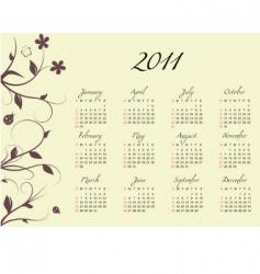 2011 vector calendar vector image vector image