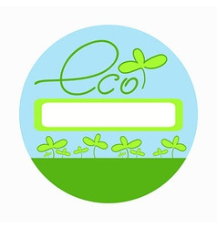 Eco-friendly goods emblem vector