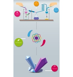 Scientific research chemical infographics vector
