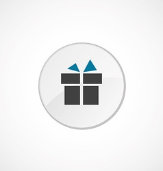 Gift icon 2 colored vector