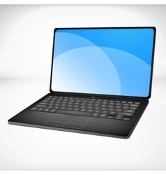 3d rendering of a laptop vector image