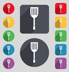 Kitchen appliances icon sign a set of 12 colored vector