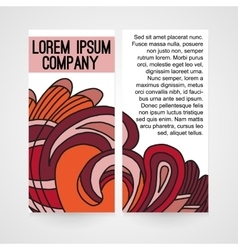 Design of brochure company vector