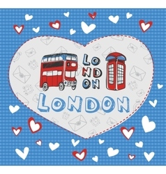 Postcard on the theme of london vector
