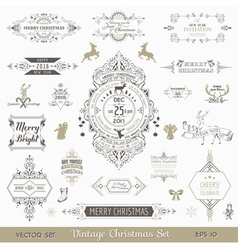 Christmas calligraphic design elements vector