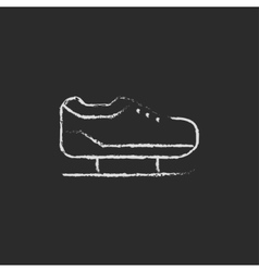 Skate icon drawn in chalk vector