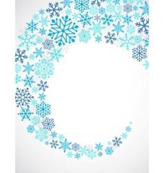 Christmas blue background with snowflakes pattern vector