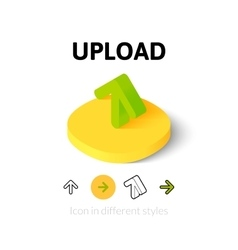 Upload icon in different style vector