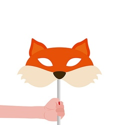 Fox mask vector