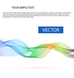 Abstract background color smoke wave vector image vector image