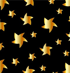 Background with golden stars vector image vector image