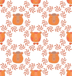 Bear pattern7 vector