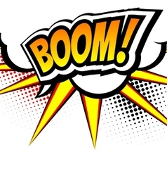 Boom Pop art inspired of a explosion vector image